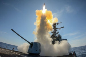 9/11 USS Stout Launches Standard Missile Over the Atlantic Ocean