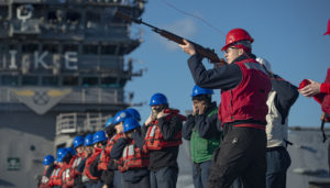 Atlantic Replenishment – USS Eisenhower Shot Line